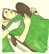 乳首の大きさを確認